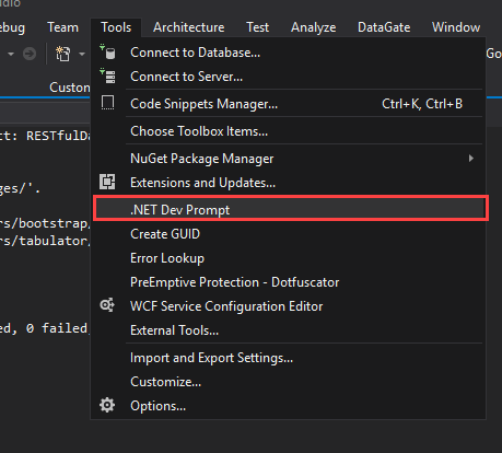 Making  NET's command line available inside Visual Studio | ASNA